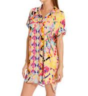 Josie by Natori Sleepwear Rive Gauche Chic Printed Rayon Challis Sleepshirt W92121