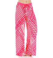 Josie by Natori Sleepwear Ikat Printed Challis Pajama Pant W97019
