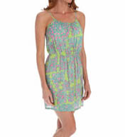 Josie by Natori Sleepwear Glamour Floral Printed Challis Skimmer W98214