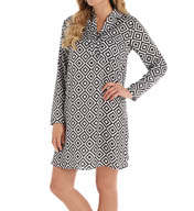 Josie by Natori Sleepwear Prism Printed Satin Sleepshirt X92420