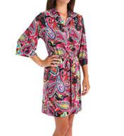Josie by Natori Sleepwear Anya Printed Slinky Wrap X94210