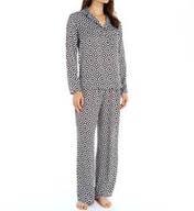 Josie by Natori Sleepwear Prism Printed Satin Pullover Pajama Set X96421