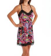 Josie by Natori Sleepwear Anya Printed Slinky Chemise X98210