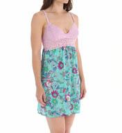 Josie by Natori Sleepwear Larisa Printed Satin Chemise X98304