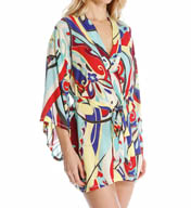Josie by Natori Sleepwear Mosaic Floral Happi Coat Y94025