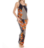 Josie by Natori Sleepwear Kinali Diamond Printed Tank Pajama Set Y96143