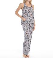 Josie by Natori Sleepwear Maden Floral Printed Tank Pajama Set Y96144