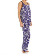 Josie by Natori Sleepwear Coastal Block Printed Tank Pajama Set Y96145