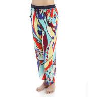 Josie by Natori Sleepwear Mosaic Floral Printed Pajama Pant Y97125