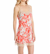 Josie by Natori Sleepwear Camelia Printed Chemise with Lace Y98020