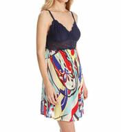 Josie by Natori Sleepwear Mosaic Floral Printed Chemise Y98025