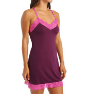 Josie by Natori Sleepwear Slinky Basics Chemise with Lace Y98028