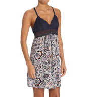 Josie by Natori Sleepwear Maden Floral Racerback Chemise with Lace Y98244