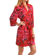 Josie by Natori Sleepwear Pixie Bouquet Slinky Wrap Z94032
