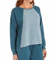 Josie by Natori Sleepwear Serene Longsleeve Sweatshirt Top Z95112