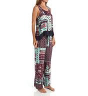 Josie by Natori Sleepwear Dynasty Scarf Rayon Twill Pajama Set Z96002