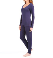 Josie by Natori Sleepwear Brushed Jersey Pajama Set Z96018