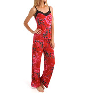 Josie by Natori Sleepwear Pixie Bouquet Slinky Pajama Set Z96032