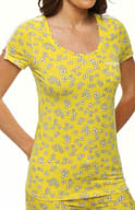 Juicy Couture Model Jersey Clover Heart Print Tee 9JMS1504
