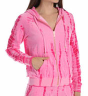 Juicy Couture Tie Dye Velour Relaxed Jacket JG009479