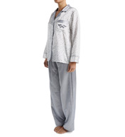 KayAnna Brushed Back Satin Leaf PJ Set B15246