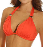 Kenneth Cole Swimwear Sunset Cliffs Wireless Push-Up Halter Swim Top KC5TA67