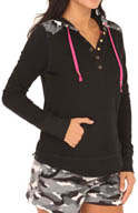 Kensie Chilled Out Long Sleeve Hooded Top 2413668