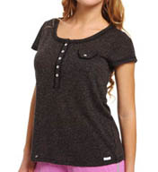 Kensie Kitsch Cute Short Sleeve Top 2413688