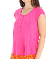 Kensie Bedtime Boho Short Sleeve T-Shirt 2416251