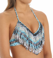 L Space African Odyssey Audrey Fringe Swim Top AO56T15