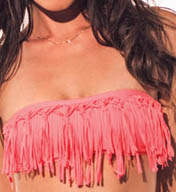 L Space Knotted Dolly Fringe Swim Top FR55T14