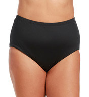 La Blanca Core Solid Plus Size High Waist Swim Bottom B5R090W