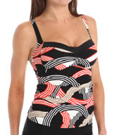 La Blanca Road Trip Sweetheart Tankini Swim Top LB5KX88