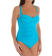 La Blanca Core Solid OTS Foam Cup One Piece Swimsuit LB5R013