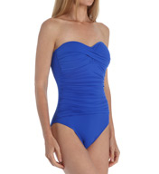 La Blanca Core Solids Bandeau One Piece Swimsuit LB5R020