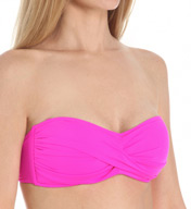 La Blanca Core Solid Bandeau Bra Convertible Swim Top LB5R081