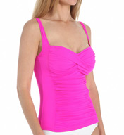La Blanca Core Solid Sweetheart Tankini Swim Top LB5R088