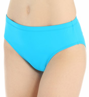 La Blanca Core Solid Hi-Waist Swim Bottom with Tummy Toner LB5R090