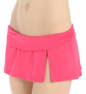 La Blanca Core Solid Shirred Waist Skirted Swim Bottom LB5R092