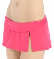 La Blanca Core Solid Shirred Waist Skirted Swim Bottom LB5R092