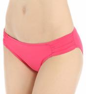 La Blanca Core Solid Shirred Sided Hipster Swim Bottom LB5R096