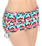 La Blanca Essence Chevron Adjustable Skirted Swim Bottom LB5R690
