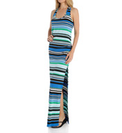 La Blanca La Raya Maxi Dress with Slit LB5SA38