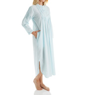 La Cera Long Sleeve Cotton Nightgown 1060G