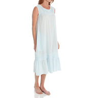La Cera Cotton Crochet Sleeveless Gown With Pockets 1250G