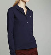 Lacoste Long Sleeve 5 Button Stretch Pique Polo PF469E-51