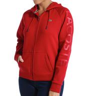 Lacoste Long Sleeve Brushed Fleece Zip Front Hoodie SF1653-51