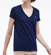 Lacoste Short Sleeve Cotton Jersey V-Neck T-Shirt TF2683-51