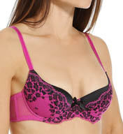 L'Agent by Agent Provocateur Reya Animal Padded Plunge Bra L045-13