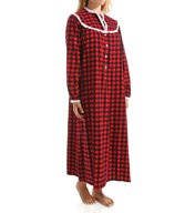 Lanz of Salzburg Long Sleeve Flannel Gown 5416814